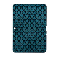 Scales2 Black Marble & Teal Leather Samsung Galaxy Tab 2 (10 1 ) P5100 Hardshell Case  by trendistuff