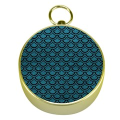 Scales2 Black Marble & Teal Leather Gold Compasses by trendistuff