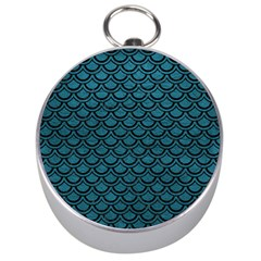 Scales2 Black Marble & Teal Leather Silver Compasses by trendistuff