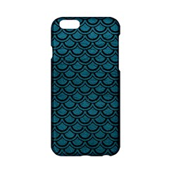Scales2 Black Marble & Teal Leather Apple Iphone 6/6s Hardshell Case by trendistuff
