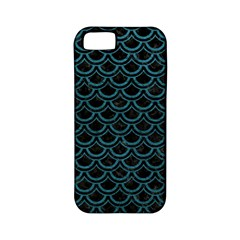 Scales2 Black Marble & Teal Leather (r) Apple Iphone 5 Classic Hardshell Case (pc+silicone) by trendistuff