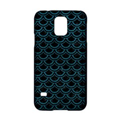 Scales2 Black Marble & Teal Leather (r) Samsung Galaxy S5 Hardshell Case  by trendistuff