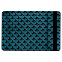 Scales3 Black Marble & Teal Leather Ipad Air 2 Flip by trendistuff