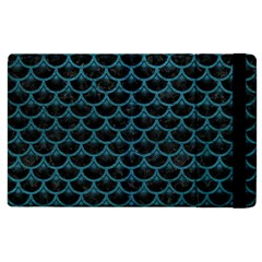 Scales3 Black Marble & Teal Leather (r) Apple Ipad 3/4 Flip Case by trendistuff
