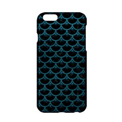 Scales3 Black Marble & Teal Leather (r) Apple Iphone 6/6s Hardshell Case by trendistuff