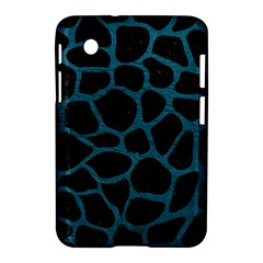 Skin1 Black Marble & Teal Leather Samsung Galaxy Tab 2 (7 ) P3100 Hardshell Case  by trendistuff