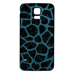 Skin1 Black Marble & Teal Leather Samsung Galaxy S5 Back Case (white) by trendistuff
