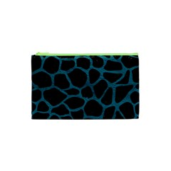 Skin1 Black Marble & Teal Leather Cosmetic Bag (xs) by trendistuff