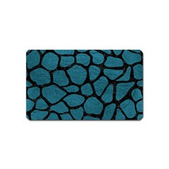 Skin1 Black Marble & Teal Leather (r) Magnet (name Card) by trendistuff
