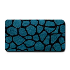 Skin1 Black Marble & Teal Leather (r) Medium Bar Mats by trendistuff