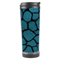 Skin1 Black Marble & Teal Leather (r) Travel Tumbler by trendistuff