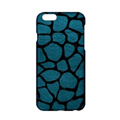 Skin1 Black Marble & Teal Leather (r) Apple Iphone 6/6s Hardshell Case by trendistuff
