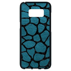 Skin1 Black Marble & Teal Leather (r) Samsung Galaxy S8 Black Seamless Case