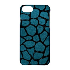 Skin1 Black Marble & Teal Leather (r) Apple Iphone 8 Hardshell Case by trendistuff