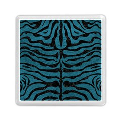 Skin2 Black Marble & Teal Leather Memory Card Reader (square)  by trendistuff