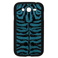 Skin2 Black Marble & Teal Leather Samsung Galaxy Grand Duos I9082 Case (black)