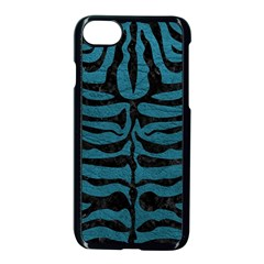 Skin2 Black Marble & Teal Leather Apple Iphone 7 Seamless Case (black) by trendistuff