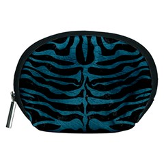 Skin2 Black Marble & Teal Leather (r) Accessory Pouches (medium)  by trendistuff