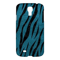 Skin3 Black Marble & Teal Leather Samsung Galaxy S4 I9500/i9505 Hardshell Case by trendistuff