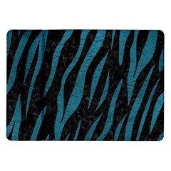 Skin3 Black Marble & Teal Leather (r) Samsung Galaxy Tab 10 1  P7500 Flip Case