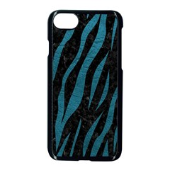 Skin3 Black Marble & Teal Leather (r) Apple Iphone 8 Seamless Case (black) by trendistuff