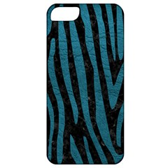 Skin4 Black Marble & Teal Leather Apple Iphone 5 Classic Hardshell Case by trendistuff