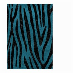Skin4 Black Marble & Teal Leather (r) Small Garden Flag (two Sides) by trendistuff