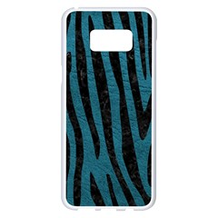 Skin4 Black Marble & Teal Leather (r) Samsung Galaxy S8 Plus White Seamless Case by trendistuff