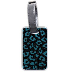 Skin5 Black Marble & Teal Leather Luggage Tags (one Side)  by trendistuff