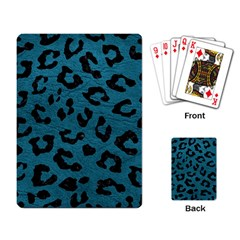 Skin5 Black Marble & Teal Leather (r) Playing Card by trendistuff