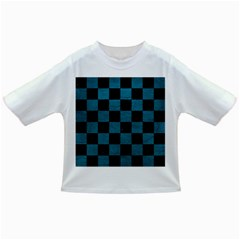 SQUARE1 BLACK MARBLE & TEAL LEATHER Infant/Toddler T-Shirts