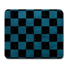 SQUARE1 BLACK MARBLE & TEAL LEATHER Large Mousepads