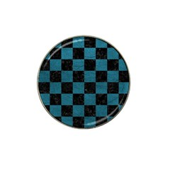 SQUARE1 BLACK MARBLE & TEAL LEATHER Hat Clip Ball Marker
