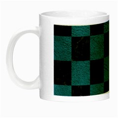 SQUARE1 BLACK MARBLE & TEAL LEATHER Night Luminous Mugs