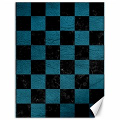 SQUARE1 BLACK MARBLE & TEAL LEATHER Canvas 12  x 16