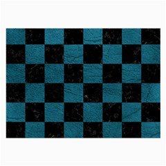 SQUARE1 BLACK MARBLE & TEAL LEATHER Large Glasses Cloth
