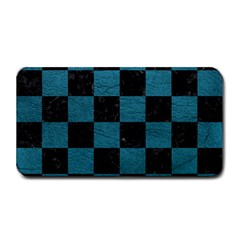SQUARE1 BLACK MARBLE & TEAL LEATHER Medium Bar Mats
