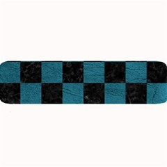 SQUARE1 BLACK MARBLE & TEAL LEATHER Large Bar Mats
