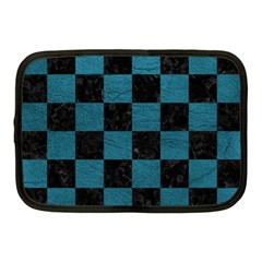 SQUARE1 BLACK MARBLE & TEAL LEATHER Netbook Case (Medium)