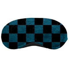 SQUARE1 BLACK MARBLE & TEAL LEATHER Sleeping Masks