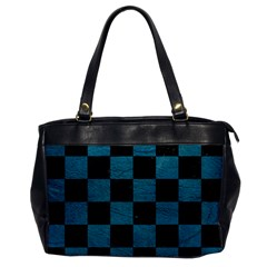 SQUARE1 BLACK MARBLE & TEAL LEATHER Office Handbags