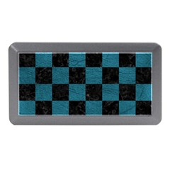 SQUARE1 BLACK MARBLE & TEAL LEATHER Memory Card Reader (Mini)