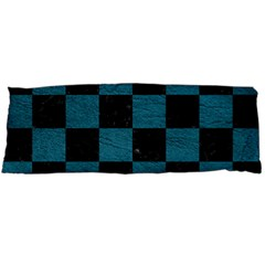 SQUARE1 BLACK MARBLE & TEAL LEATHER Body Pillow Case (Dakimakura)