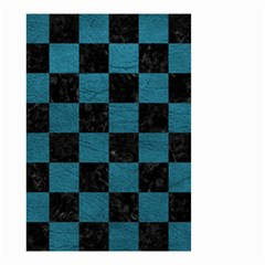 SQUARE1 BLACK MARBLE & TEAL LEATHER Small Garden Flag (Two Sides)