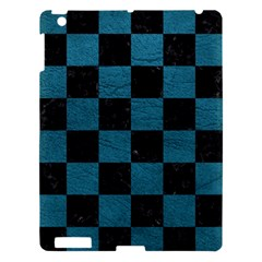 SQUARE1 BLACK MARBLE & TEAL LEATHER Apple iPad 3/4 Hardshell Case