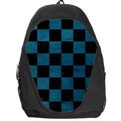 SQUARE1 BLACK MARBLE & TEAL LEATHER Backpack Bag