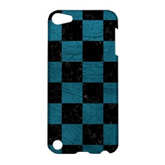 SQUARE1 BLACK MARBLE & TEAL LEATHER Apple iPod Touch 5 Hardshell Case