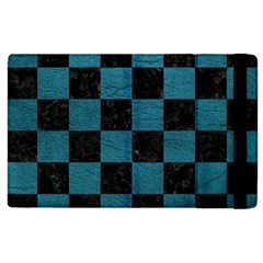 SQUARE1 BLACK MARBLE & TEAL LEATHER Apple iPad 3/4 Flip Case