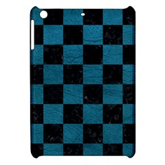 SQUARE1 BLACK MARBLE & TEAL LEATHER Apple iPad Mini Hardshell Case