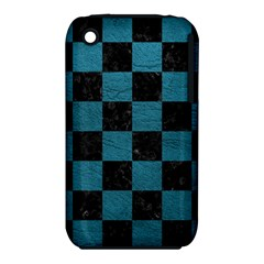 SQUARE1 BLACK MARBLE & TEAL LEATHER iPhone 3S/3GS